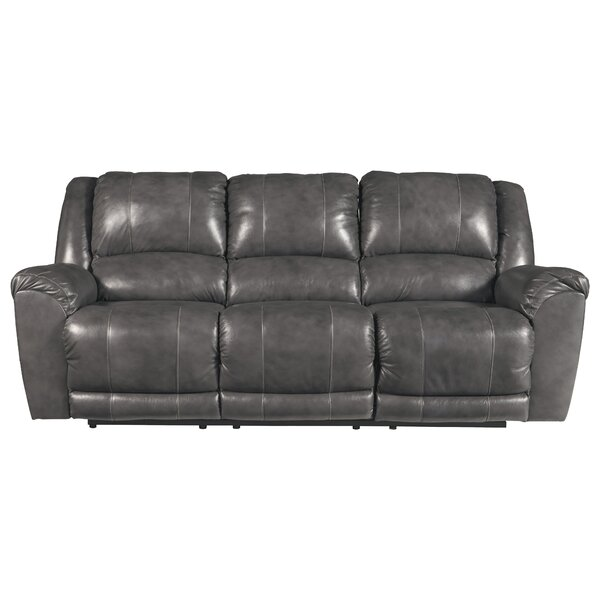 #2 Waterloo Leather Reclining Sofa By Darby Home Co 2019 Sale