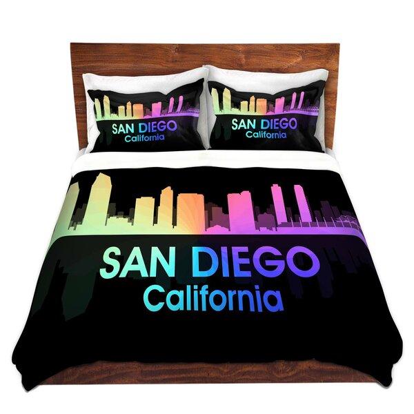 City V San Diego California Duvet Cover Set
