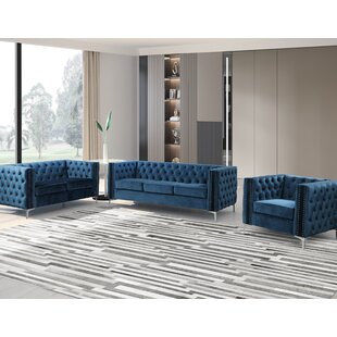 Yowell 3 Piece Standard Living Room Set by Everly Quinn