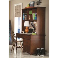 Williamsport Writing Desk with Hutch and Bow Back Desk Chair by Latitude Run