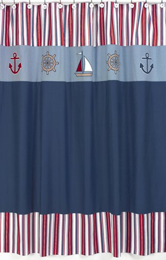 Nautical Nights Shower Curtain by Sweet Jojo Designs