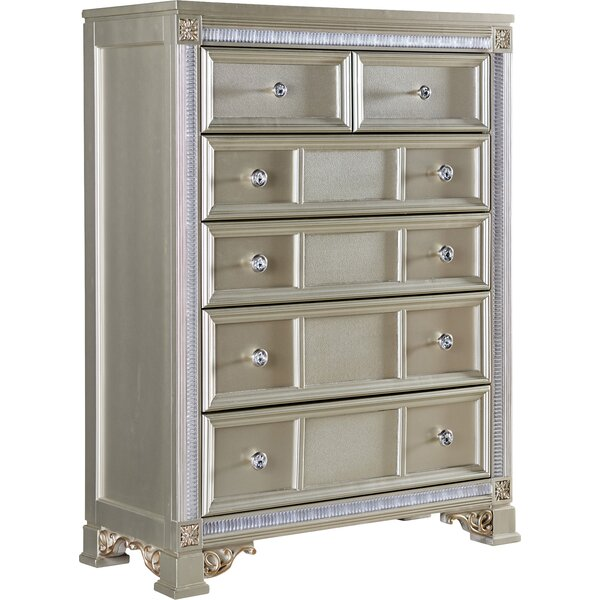 Tiffany 6 Drawer Chest by Fairfax Home Collections