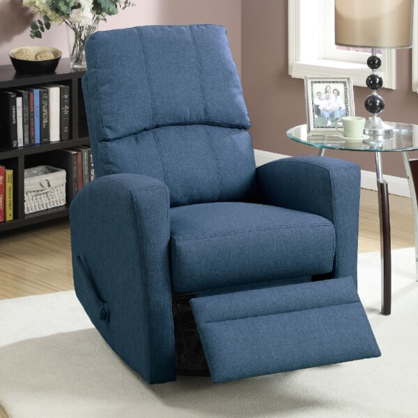 Flora Upholstered Manual Swivel Recliner by A&J Homes Studio