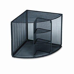 Mesh Corner Desktop Shelf by Rolodex Corporation Office Furniture