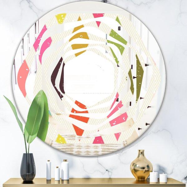 Diamond III Whirl Modern & Contemporary Frameless Wall Mirror