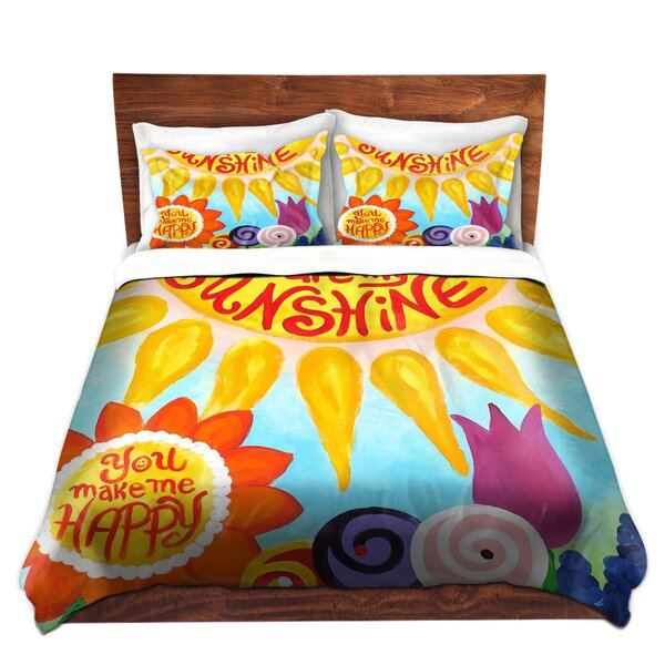 Mangino nJoy Art You Are My Sunshine Floral Microfiber Duvet Covers