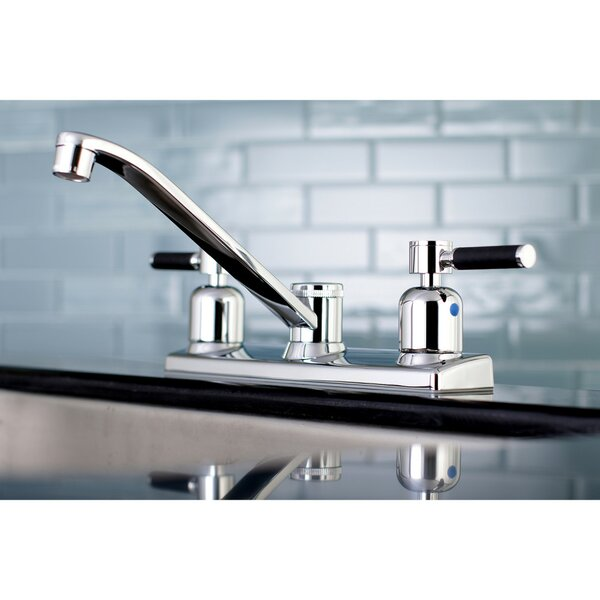 Kaiser Centerset Double Handle Kitchen Faucet by Kingston Brass