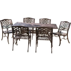 tarleton 7piece patio dining set