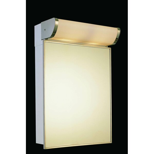 Levon Stainless Steel Mirror 23.25 x 16 Surface Mount Frameless Medicine Cabinet with 2 Adjustable Shelves and LED Lighting by Symple Stuff