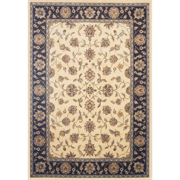 Beecroft Cream/Chocolate Area Rug by Darby Home Co