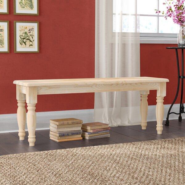 Lynn Wooden Bench By Mistana Discount