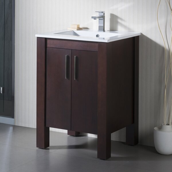 Parsons 25 Vanity Set with Porcelain Top by INOLAV