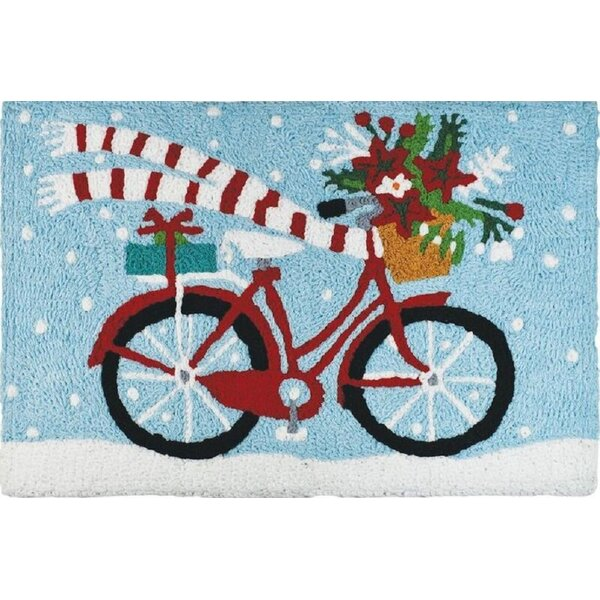 Ennis Biking Hand-Tufted Blue Indoor/Outdoor Area Rug by The Holiday Aisle