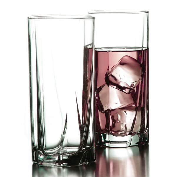 Luna 15.5 oz. Highball Glass (Set of 4) by Style Setter