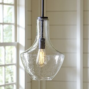 Pendant lighting youll love wayfair sutton 1 light teardrop pendant mozeypictures Gallery