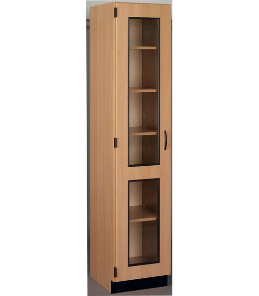 Science 6 Compartment Classroom Cabinet with Doors by Stevens ID Systems