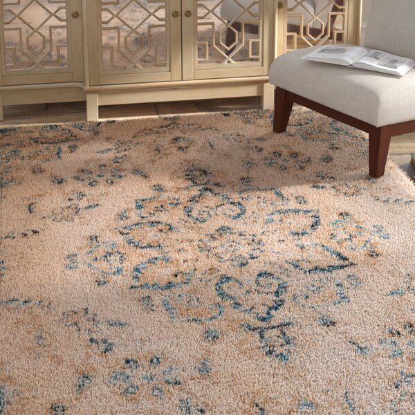 Randers Rectange Beige Area Rug by Bloomsbury Market