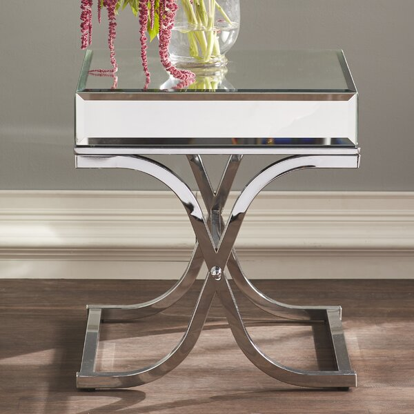 Kiril Mirrored End Table by Willa Arlo Interiors