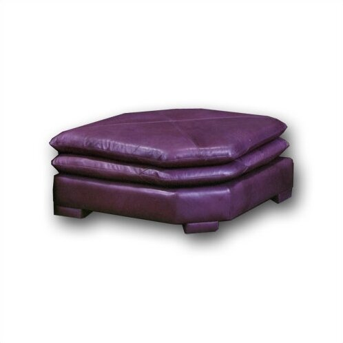 Fargo Leather Wedge Ottoman by Omnia Leather