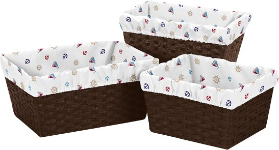 Nautical 3 Piece Basket Liner Set by Sweet Jojo Designs
