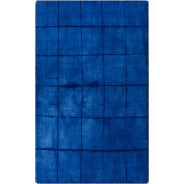 Steinsel Hand Woven Wool Cobalt Area Rug by Bungalow Rose