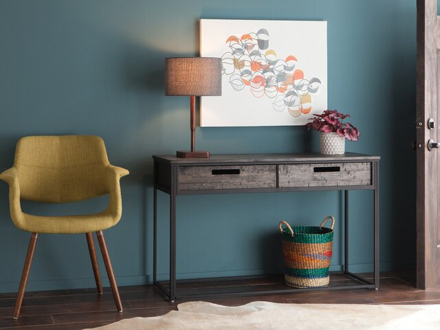 Astonishing Modern Console Sofa Tables Allmodern Onthecornerstone Fun Painted Chair Ideas Images Onthecornerstoneorg