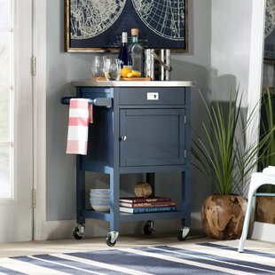 Eira Kitchen Cart with Stainless Steel Top ByWilla Arlo Interiors