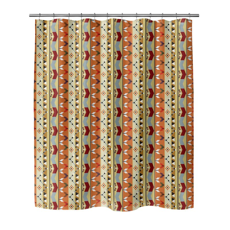 Bloomsbury Market Devin Geometric Single Shower Curtain Wayfair
