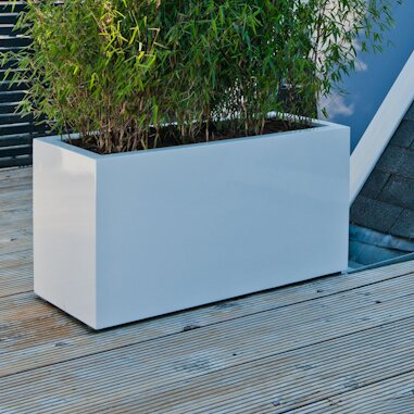 Sleek Fiberstone Planter Box by Pottery Pots