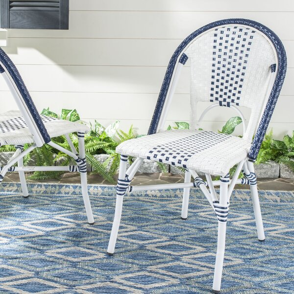 Clairlea Stacking Patio Dining Chair (Set of 2) by World Menagerie