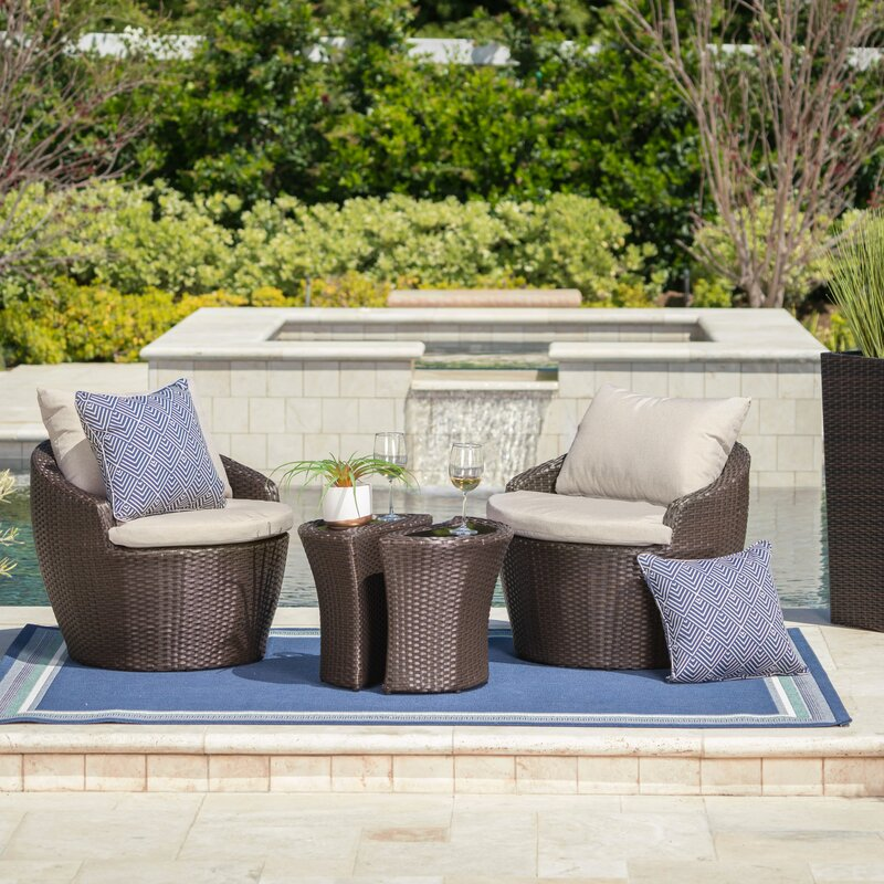 Cherita 3 Piece Conversation Set With Cushions