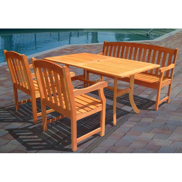 Cotten 4 Piece Dining Set by Darby Home Co