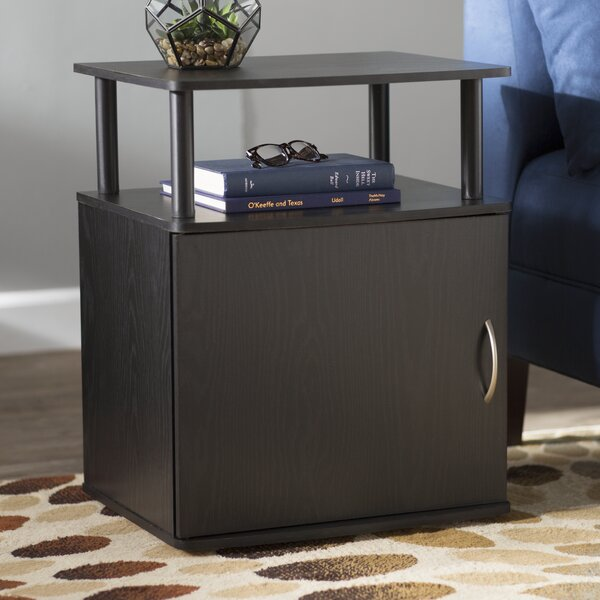 Crow End Table With Storage by Zipcode Design