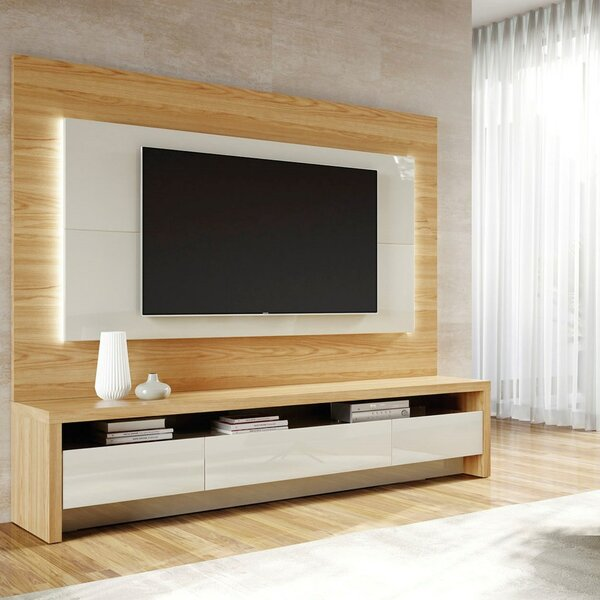Review Makiver Floating Entertainment Center For TVs Up To 60