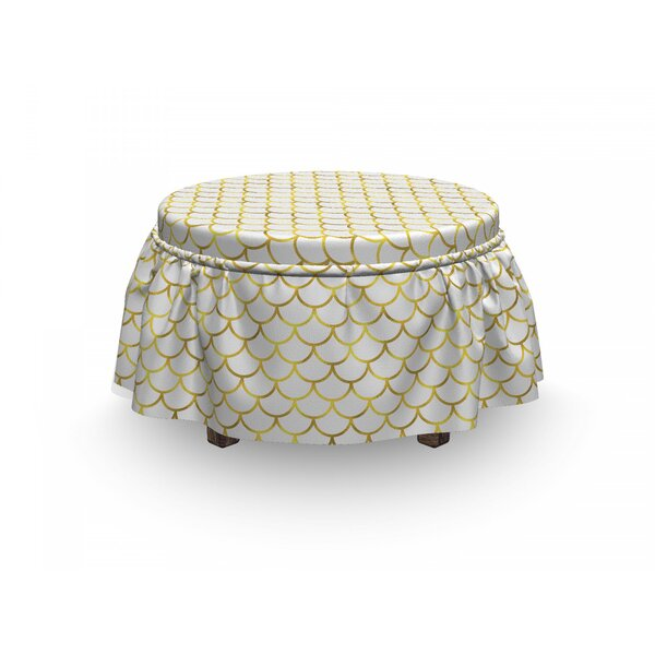 Ombre Waves Ottoman Slipcover (Set Of 2) By East Urban Home
