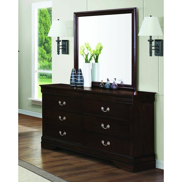 Millsaps 6 Drawer Double Dresser with Mirror by Canora Grey