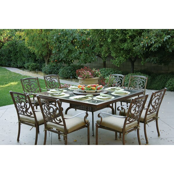 Palazzo Sasso Traditional 10 Piece Dining Set with Cushions by Astoria Grand