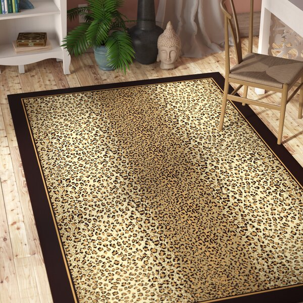 Marlette Cheetah Animal Print Leopard Brown/Beige Indoor/Outdoor Area Rug by Bloomsbury Market