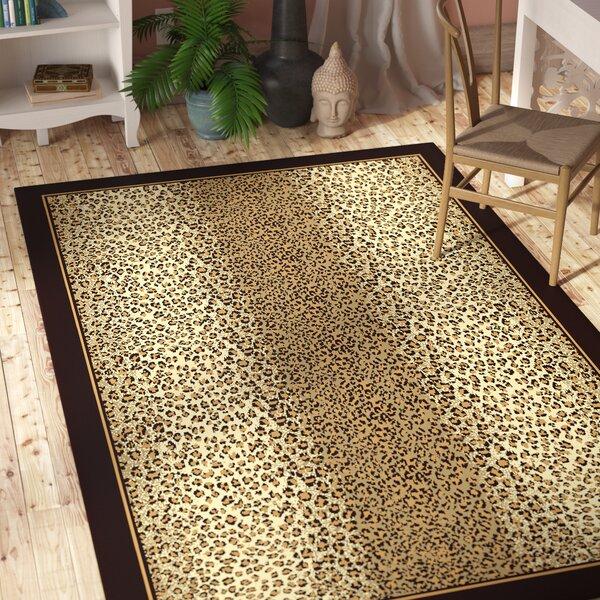Marlette Cheetah Animal Print Leopard Brown/Beige Indoor/Outdoor Area Rug by Bloomsbury Market