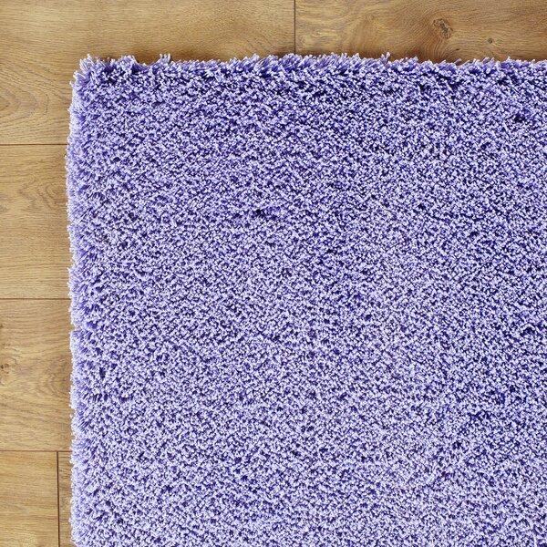 Shaggy Hand-Woven Purple Area Rug by Birch Lane Kids™