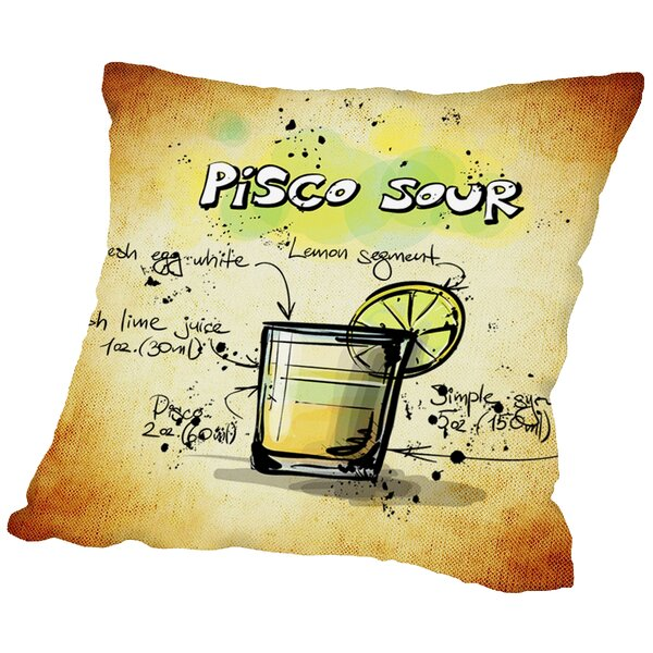 Pisco Sour Cocktail Throw Pillow by East Urban Home