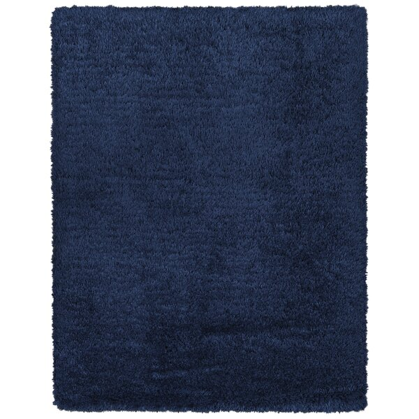 Costantino Fuzzy High Pile Navy Area Rug by Wrought Studio