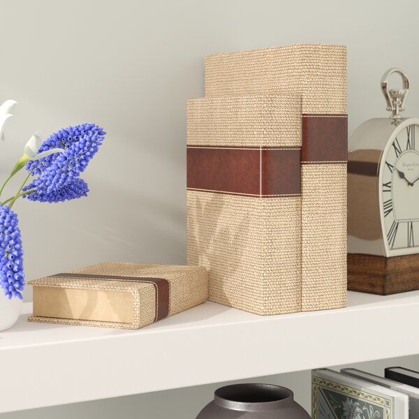 Eraman 3 Piece Book Box Set by Darby Home Co