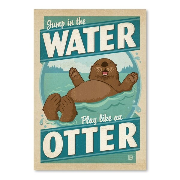 Lake Water Otter Vintage Advertisement by East Urban Home