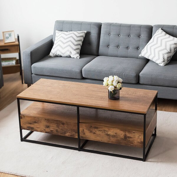 Crippen Sled Coffee Table with Storage by Loon Peak Loon Peak