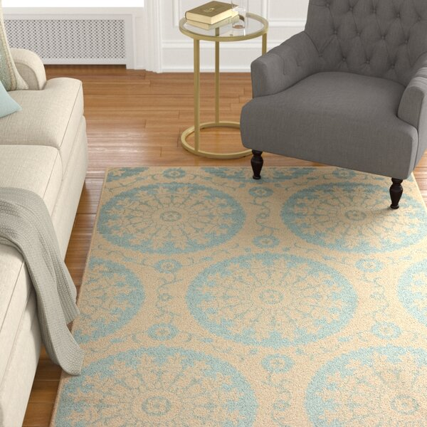 Keough Beige Indoor/Outdoor Area Rug by Charlton Home