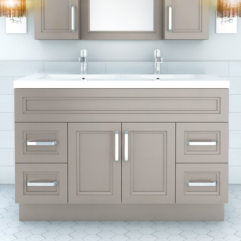 48 vanity with sink. Urban 48  Vanity Double Bowl Cutler Kitchen Bath Reviews Wayfair