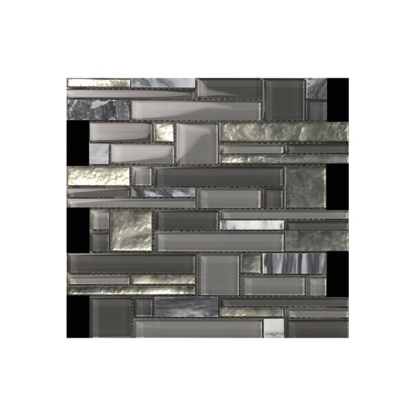 12 x 12 Stone Mosaic Tile in Gray by Kellani
