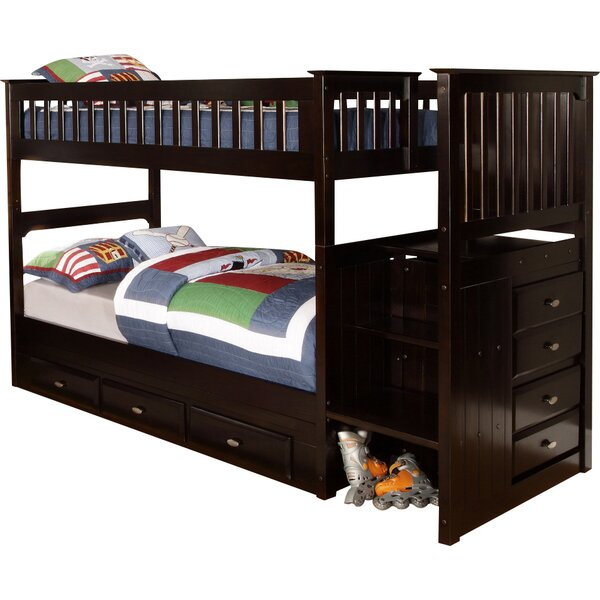 Juhasz Twin Over Twin Bunk Bed with Drawers by Viv + Rae