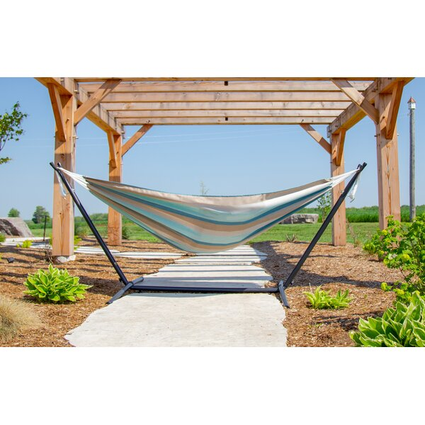 Double Tree Hammock with Stand by Vivere Hammocks